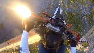 7. Riding 2012 Yamaha XT250 Enduro motorcycle on and off road around South East Louisiana