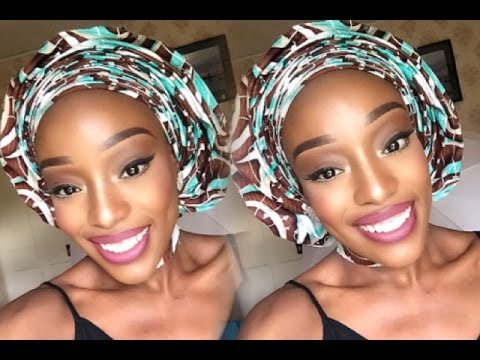 How To Tie Ankara Gele With Perfect Pleats | Open & Closed Back