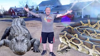 MEET MY GIANT SNAKE AND HUGE PET ALLIGATOR!!   BRIAN BARCZYK by Brian Barczyk