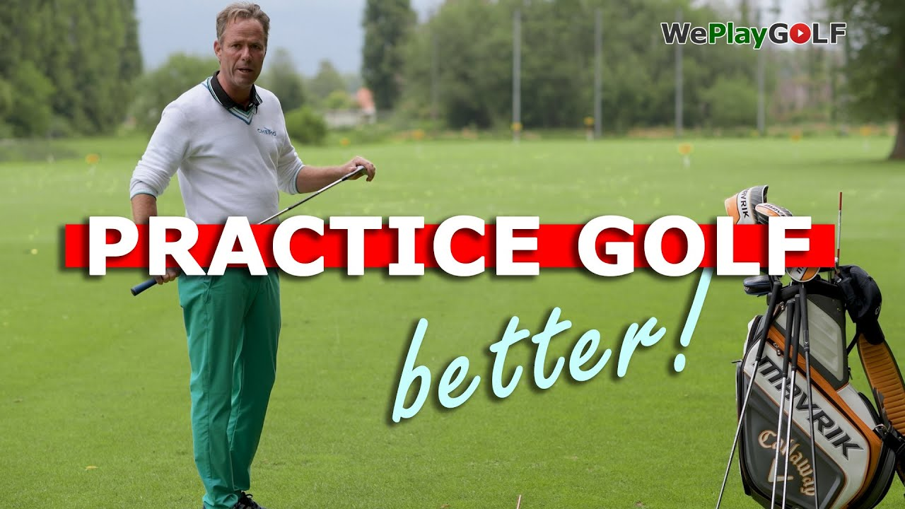 You practice GOLF the wrong way! This is how you practice GOLF better and IMPROVE