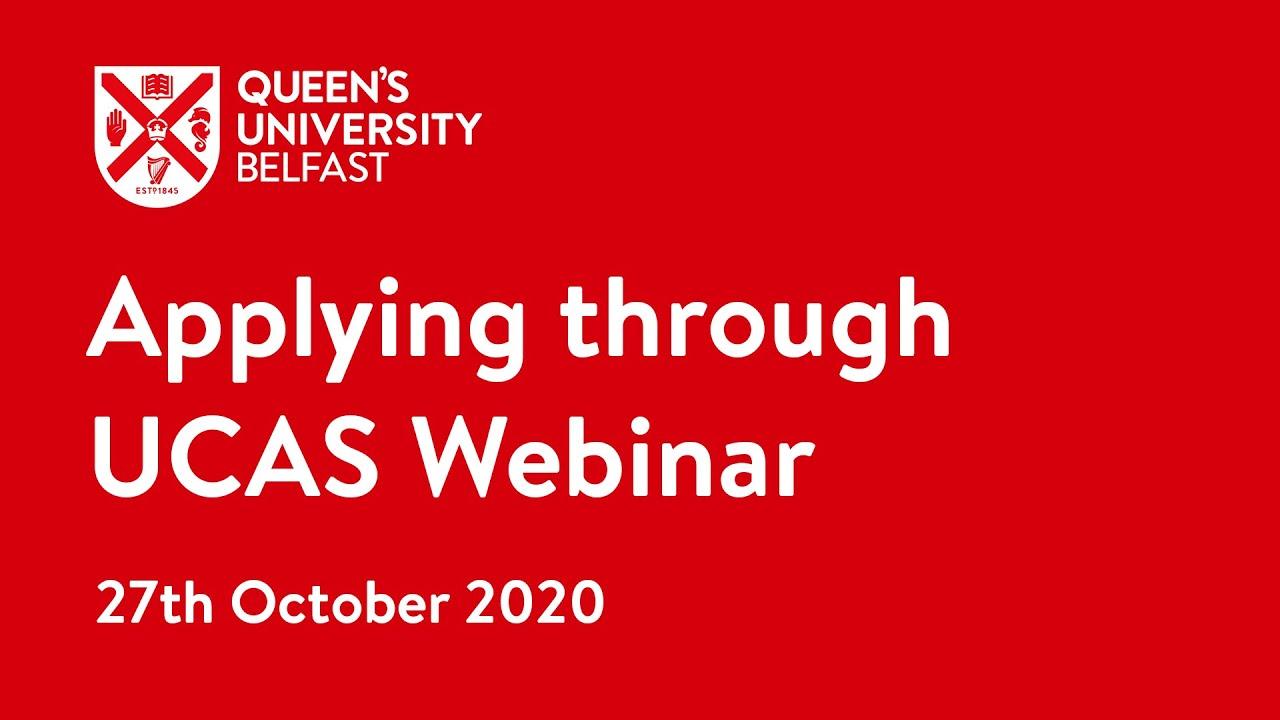 Video Thumbnail: Applying through UCAS