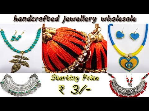 Handcrafted Jewellery Wholesale | Oxidised, Jute, Threaded and many more | Canning Street Burrabazar