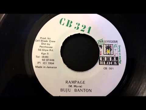 "Buju Banton - Rampage - CB 321 Records 7"""
