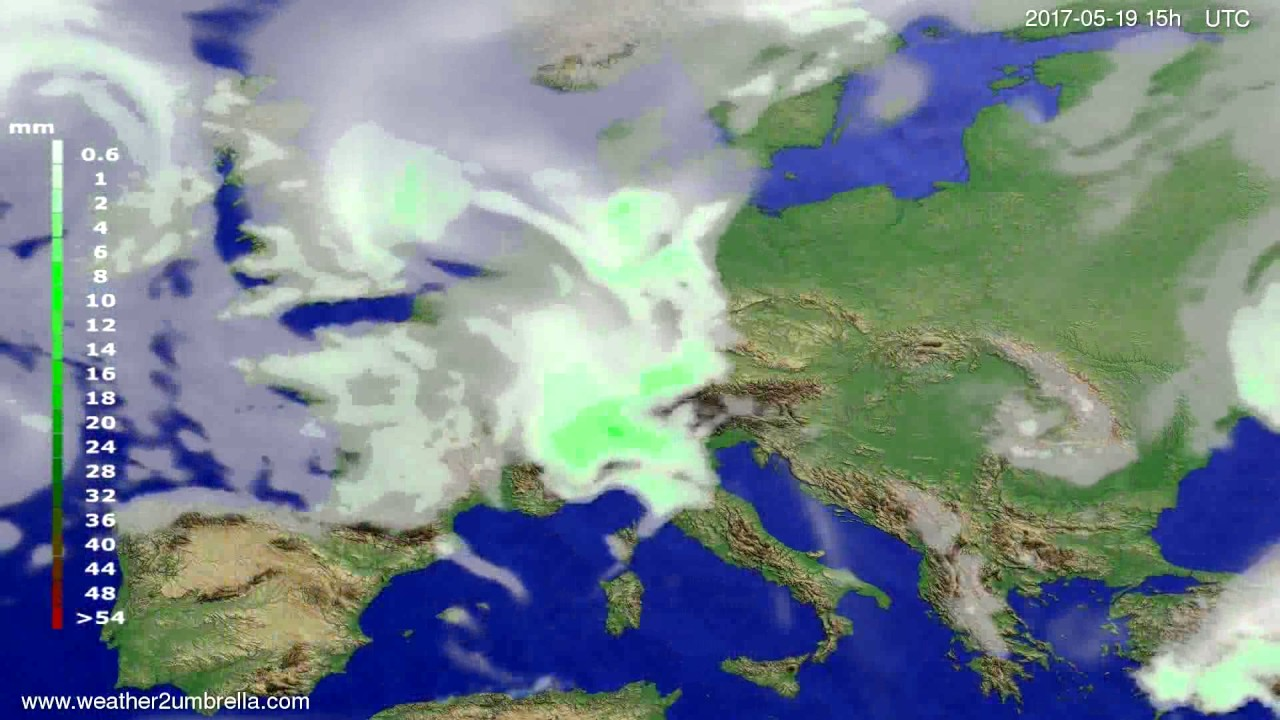 Precipitation forecast Europe 2017-05-17