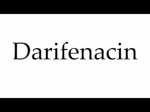 How to Pronounce Darifenacin