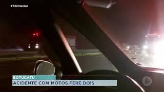 Botucatu: motociclistas ficam feridos após colisão na Marechal Rondon
