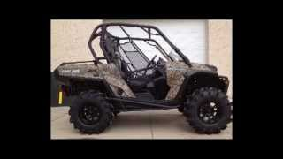 7. 2012 Canam Commander 1000XT Camo Snorkeled Up, Radial Outlaws