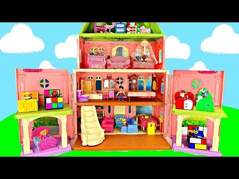 Learn Colors with Paw Patrol Pack and Move to a New Mansion House with Furniture