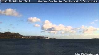 16 January 2015 - Aberdour WeatherCam Timelapse