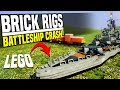 LEGO BATTLESHIP HIT BY TRAIN - Brick Rigs Gameplay   Battleship Challenge!