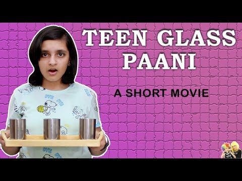 TEEN GLASS PAANI | Short Movie | Students during studies | Aayu and Pihu Show