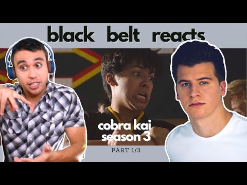 Black Belt Reacts to Barrett Carnahan | IS MIGUEL BACK?? | COBRA KAI SEASON 3 Fight Reaction 1/3 |