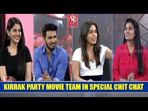 Kirrak Party Movie Team In Special Chit Chat | Nikhil | Simran Pareenja | Samyuktha Hegde | V6 News
