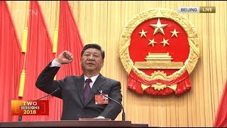 Video Newly elected Chinese president takes oath of allegiance to Constitution MP3, 3GP, MP4, WEBM, AVI, FLV Desember 2018