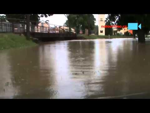 Povodně - dopoledne 2.6.2013