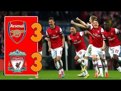 Arsenal 3 vs 3 Liverpool   All Goals & Highlight   EPL (23-12-2017) HD