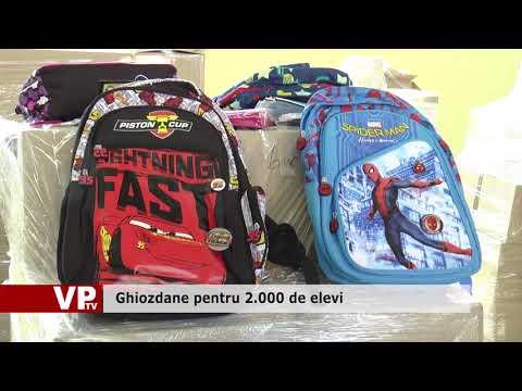 Ghiozdane pentru 2.000 de elevi