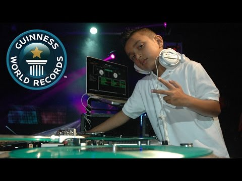 DJ - Six-year-old Brandon Duke takes over this week's Guinness World Records Spotlight, as the youngest club DJ - start pumping those fists! Subscribe for more: http://bit.ly/subscribetoGWR Welcome...