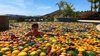 Video I Turned my Swimming Pool into a FRUIT SALAD... MP3, 3GP, MP4, WEBM, AVI, FLV April 2018