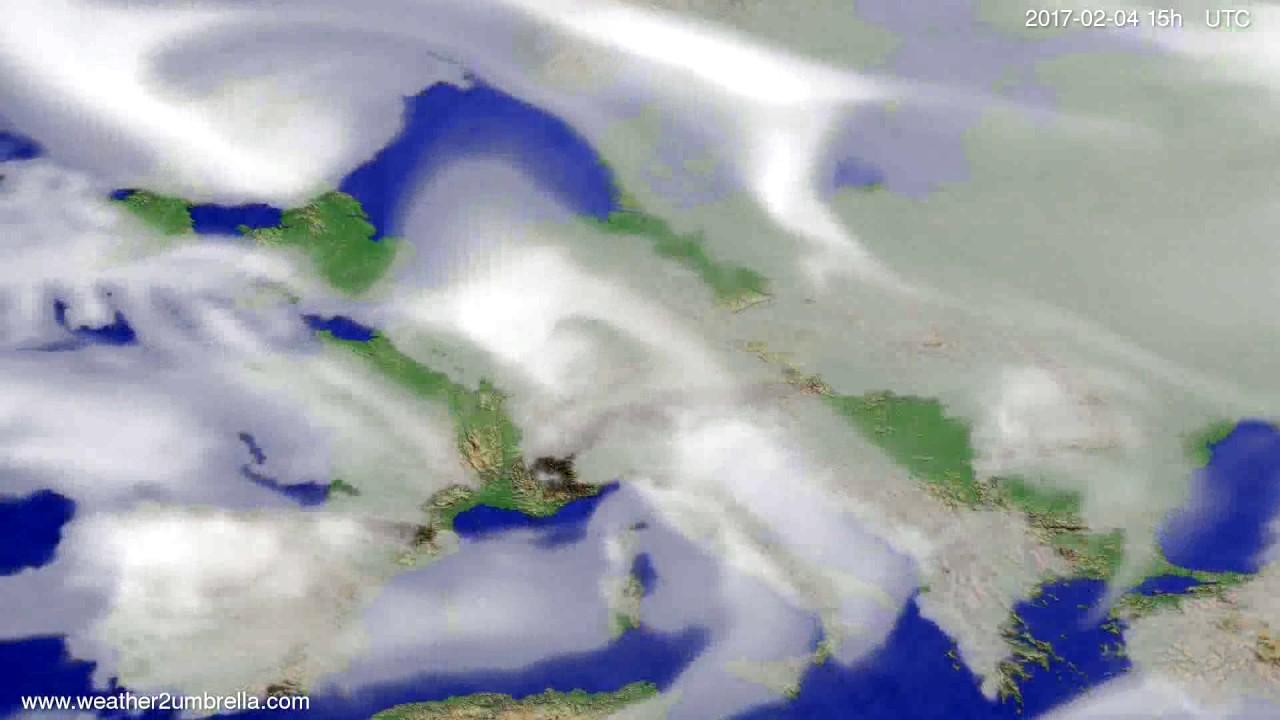 Cloud forecast Europe 2017-02-02