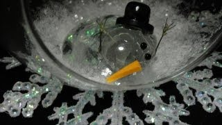 Melted Snowman Ornament with CookingAndCrafting - YouTube