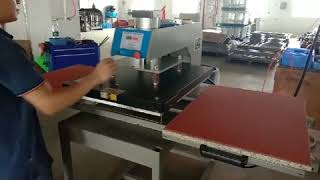 Pneumatic Heat press 60x80 sublimation printers press machine for clothing youtube video