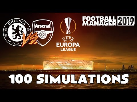 2019 Europa League Final Chelsea Vs Arsenal Simulated 100 Times | Football Manager 2019