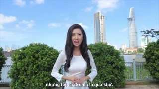 Hoa hậu Quốc tế Phạm Hồng Thúy Vân nói tiếng Anh