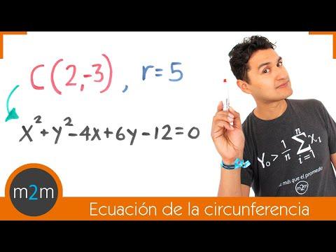 Allgemeine Gleichung des Kreises gegebenen Mittelpunkt und Radius