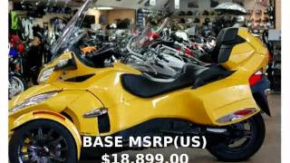 8. 2013 Can-Am Spyder RT-S -  Dealers Engine Features Transmission Specification Specs Top Speed