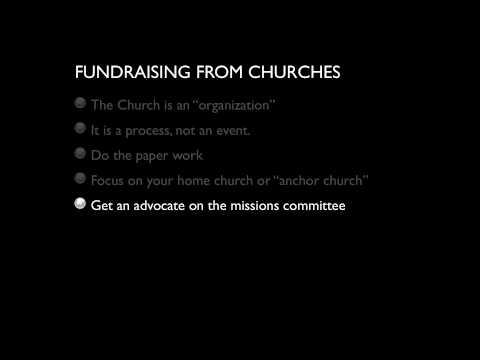 Fundraising from Churches
