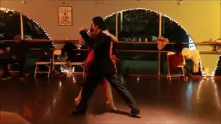 Tango Improv by 3rd Street Dance Instructor Jordi and Assistant at the Holiday Party 2017