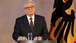 Abschiedsrede als Bundespräsident: Gauck fordert wehrhafte Demokratie