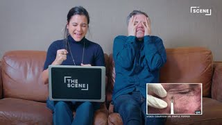 We asked our friends to watch and react to pimple popping videos. Still haven't subscribed to The Scene on YouTube? ►► http://bit.ly/subthescene  CONNECT WITH THE SCENEWeb: http://thescene.com/ Twitter: http://twitter.com/SCENE  Facebook: http://www.facebook.com/TheSceneVideo Google+: http://plus.google.com/+TheScene Instagram: http://instagram.com/thescene ABOUT THE SCENEYour go-to source for the best digital videos curated from around the globe. The Scene features a mix of comedy, celebrity, sports, music, fashion, and documentary. People React to Pimple Popping Videos  The Scene