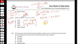 In this video i am providing solution of mocktest -1 quantitative aptitude section