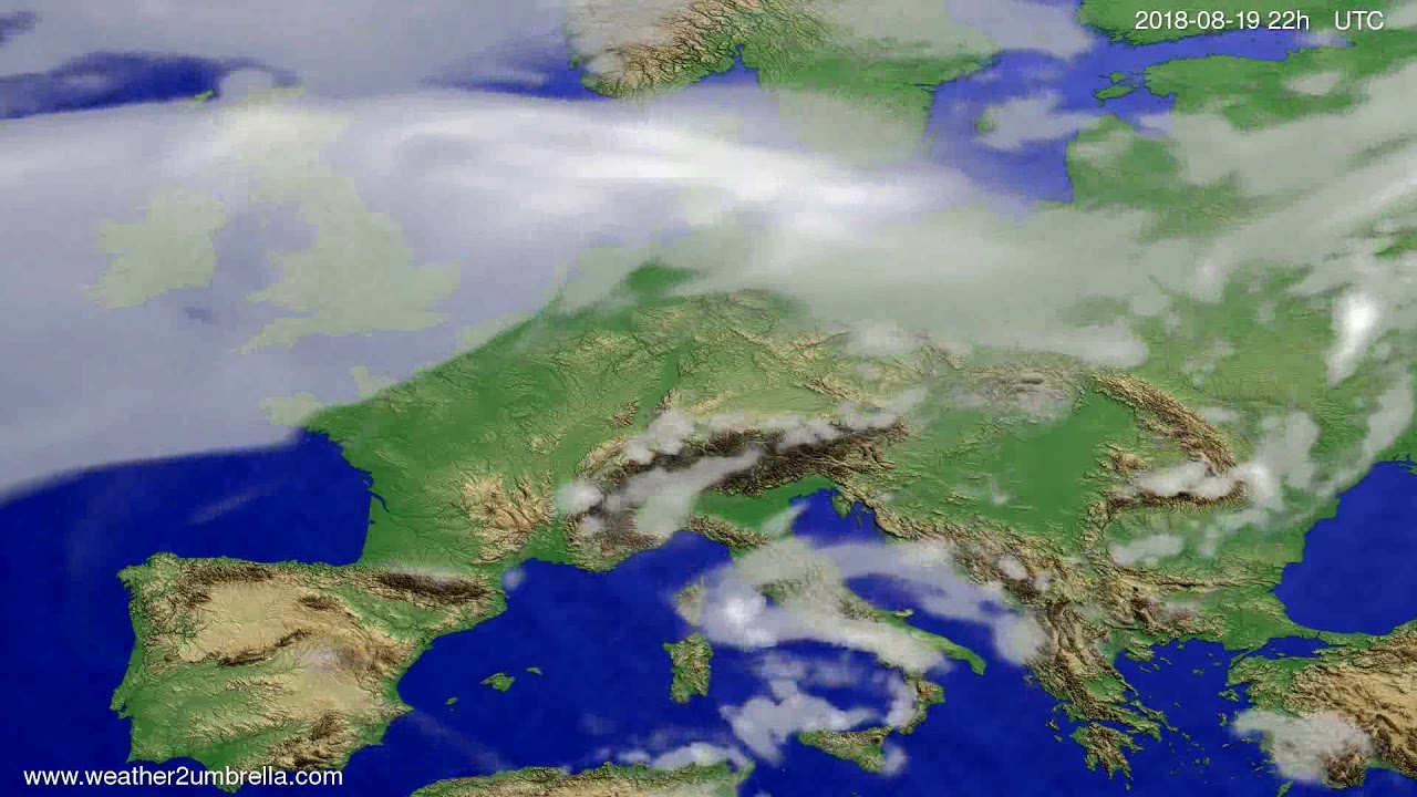 Cloud forecast Europe 2018-08-17