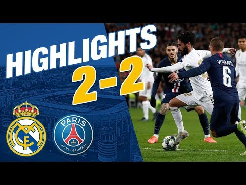 GOALS AND HIGHLIGHTS   Real Madrid 2-2 PSG