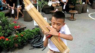 Performing Arts Abroad: Thailand Child Street Performer With Pipes