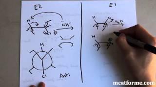 MCAT Ochem Lecture: E1 Vs. E2
