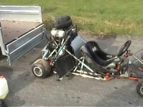 YZF R1 - 1000cc 150Hp go kart.. has soo much torque its hard to rip it in a straight line..