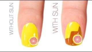 Summer Outline Color-Changing Nail Art Design