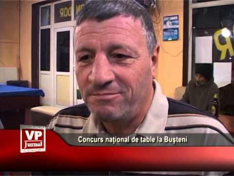Concurs național de table la Bușteni