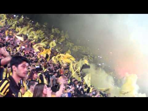 Recibimiento Peñarol vs hijos COPA BANDES 2016 - Barra Amsterdam - Peñarol