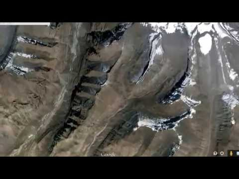 KAILASH : Real view of Lord Shiva's Holy Mount Kailash: from satellite map in Google Earth