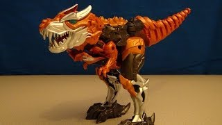 TRANSFORMERS 4 GRIMLOCK FLIP N CHANGE AGE OF EXTINCTION VIDEO TOY REVIEW