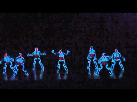 dance - epic dancers tron like suits. it is a must see video.