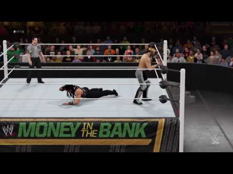 WWE:2K16 Roman Reigns vs Seth Rollins Money in The Bank Match Highlights