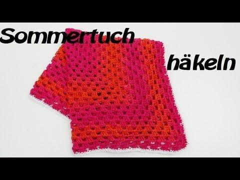 Sommertuch häkeln – Schal – Ideal für Frühling/Sommer – wunderbar luftig