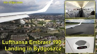 Bydgoszcz Poland  City new picture : Lufthansa CityLine Embraer 190 scenic landing in Bydgoszcz, Poland! [AirClips]