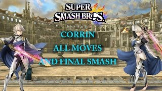 Corrin – All Moves & Final Smash!
